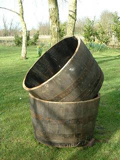Half Oak Barrel Half Oak Tub Oak Planter