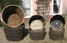 Buy Half Oak Barrels Tubs For The Garden Buy Whole Barrels Half